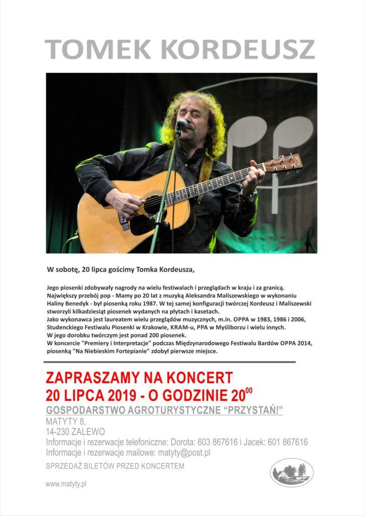 Tomek Kordeusz - koncert w Matytach