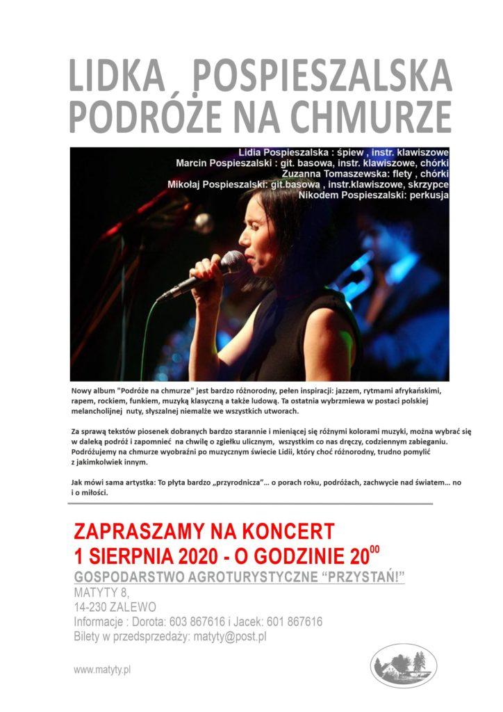 Lidka Pospieszalska z zespołem - koncert w Matytach