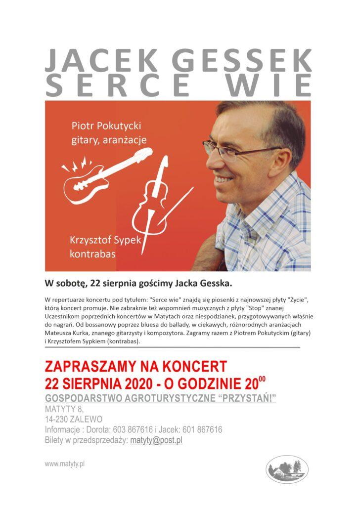 Jacek Gessek - koncert w Matytach